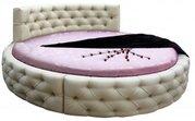 Круглая кровать Аркада из массива сосны