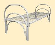Одноярусные металлические кровати для вагончиков,  кровати