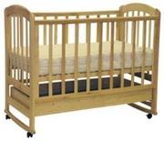 новые деревянные кроватки-качалки (с ящиком) на колесиках